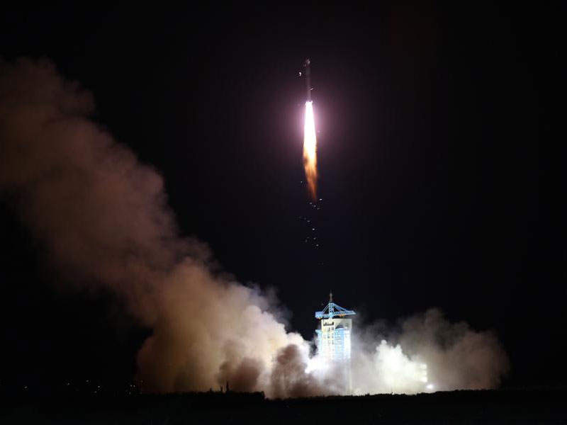 Micius was launched aboard Long March 2D rocket in August 2016. Image: courtesy of Xinhua/Jin Liwang.