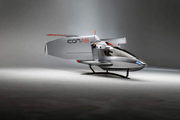 The A5 features foldable wings, which reduce the space required to park or store the plane.