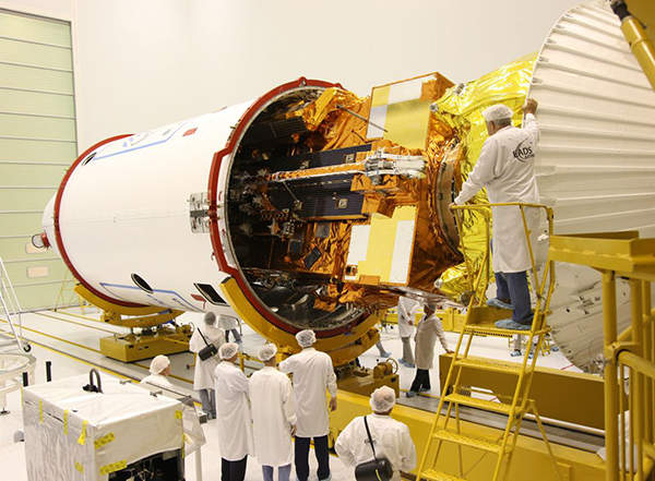 The satellite was designed and built by EADS-Astrium. Image courtesy of EUMETSAT.