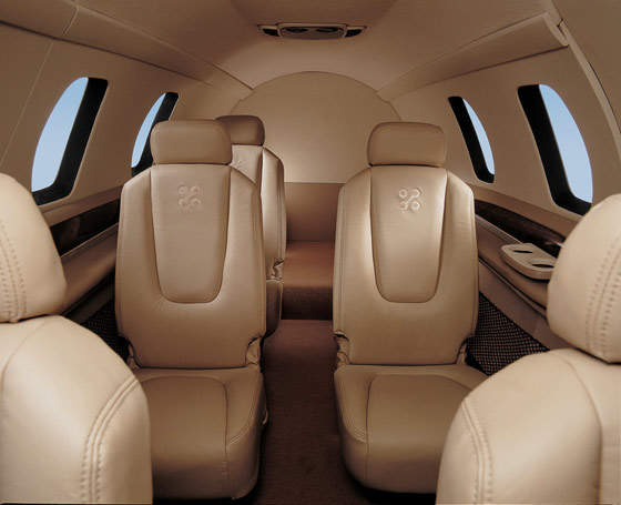 The Eclipse 500 standard configuration cabin.