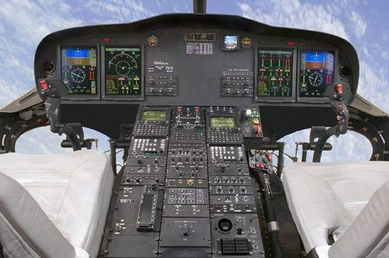The cockpit of the AW139.