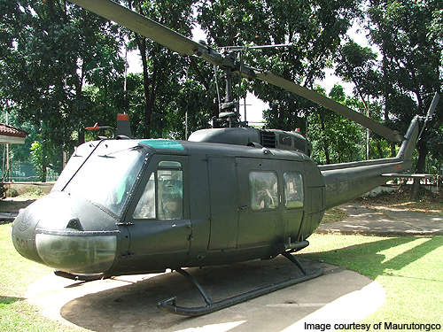 UH-1H predecessor of Bell 210.