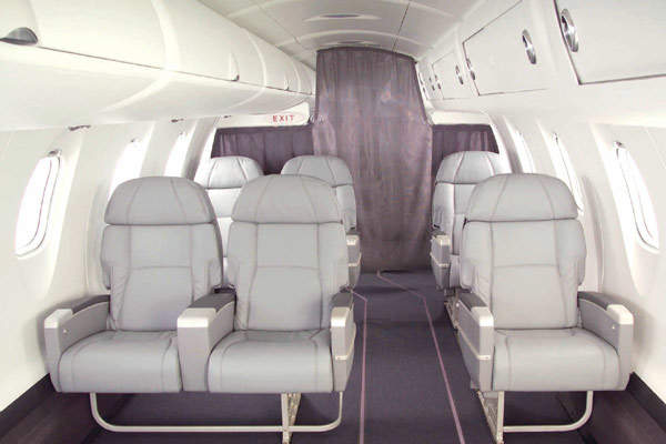A typical CRJ1000 business-class configuration.