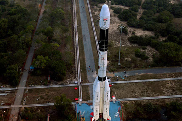GSAT-14 was launched onboard ISRO's GSLV-D5 launch vehicle. Image courtesy of ISRO.