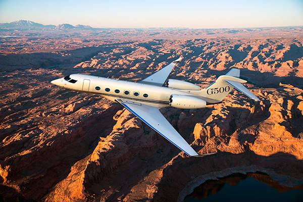 The G500 can fly at a maximum operating speed of 0.925 Mach. Image courtesy of Gulfstream Aerospace Corporation.