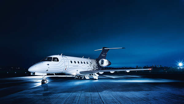 The Legacy 500 aircraft is constructed using an effective aluminium alloy. Image courtesy of Embraer Executive Jets.