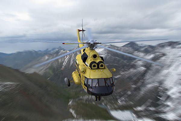 The helicopter is powered by two VK-2500PS-03 engines. Image courtesy of Russian Helicopters.