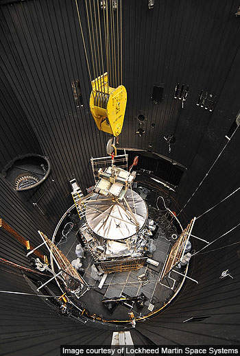 Juno was placed on large thermal vacuum chamber upon completion of thermal vacuum testing.