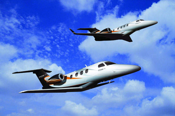 The Phenom 100 (below) and Phenom 300 (above) programme was launched in May 2005.