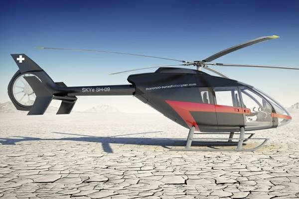 The helicopter is fitted with a single HTS-900-2 turboshaft engine. Image courtesy of Marenco Swisshelicopter AG.
