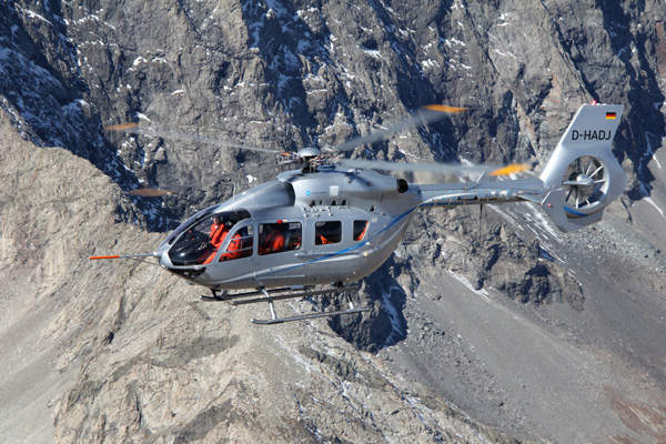 The helicopter accommodates two pilots and nine passengers. Image courtesy of Eurocopter.
