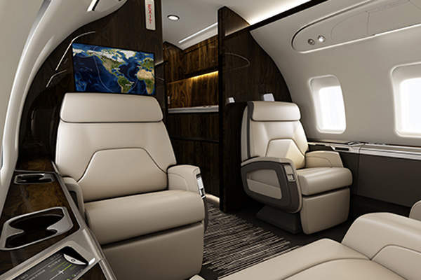 Challenger 650 offers unique expressions of comfort, control and connectivity. Image courtesy of Bombardier.