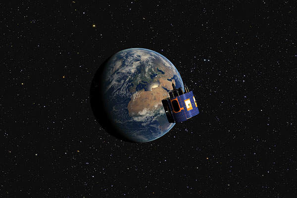 The MSG-4 satellite will provide meteorological data and monitor the climate across Europe. Image: courtesy of EUMETSAT.