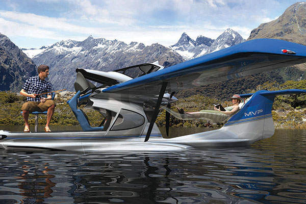 The amphibious aircraft comes with a glass canopy. Image courtesy of MVP Aero.