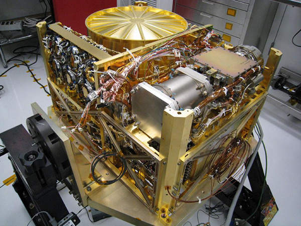 The Sample Analysis at Mars (SAM) instrument aboard the Curiosity rover analyses samples of material collected by the robotic arm. Image courtesy of NASA-GSFC.