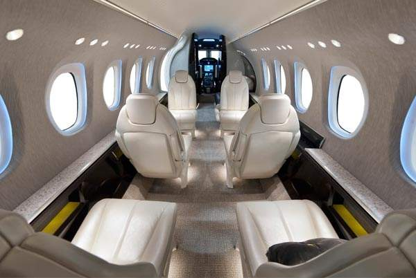 The interiors of Citation Latitude are designed for comfortable movement of passengers. Image courtesy of Cessna Aircraft Company.