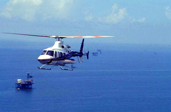 The Bell 430 is capable of speeds up to 257km/h.