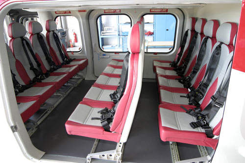 Interior of the AB139 in transport role.