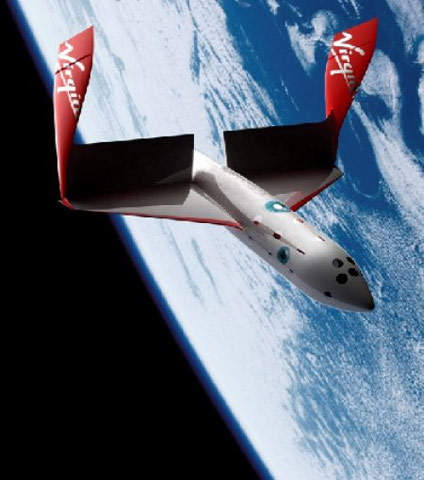 SpaceShipTwo will provide six passengers per flight with the experience of leaving earth's atmosphere.