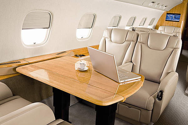 The Embraer Legacy 600 aircraft has a total of 22 windows. Image courtesy of Embraer Executive Jets.