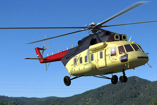 The helicopter accommodates two crew members and 24 passengers. Image courtesy of Russian Helicopters.