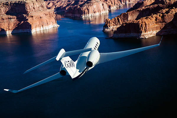 A fully fuelled G500 can fly up to 5,000 nautical miles at Mach 0.85. Image courtesy of Gulfstream Aerospace Corporation.