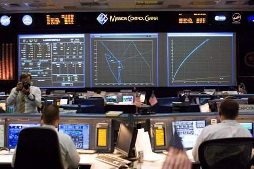NASA mission control, the flight control centre.