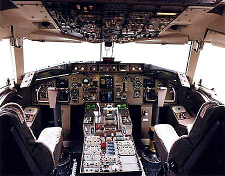The all-digital flight deck of the 767-300F includes a Honeywell FCS-700 flight control system, along with a EFIS-700 electronic flight information system.
