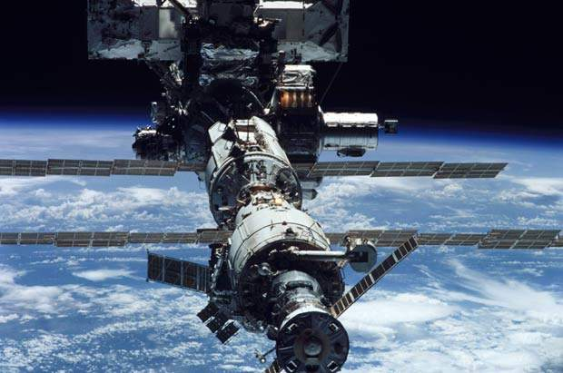 The ISS as it looked in June 2002.