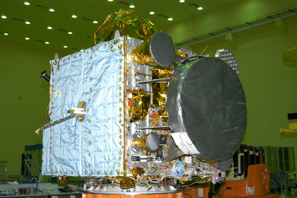 IRNSS-1A is equipped with navigation and ranging payloads. Image courtesy of ISRO.