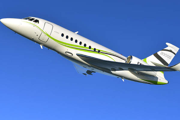 Falcon 2000S is fitted with two powerful PW308C engines manufactured by Pratt & Whitney Canada.