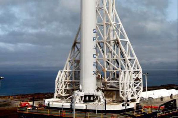 Falcon 9 rocket designed by Space X launched the AsiaSat 8. Image: courtesy of Asia Satellite Telecommunications Company.