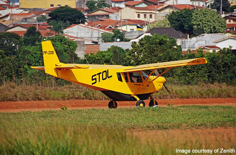 Zenith CH 801 can take-off and land on grass and unprepared airstrips.