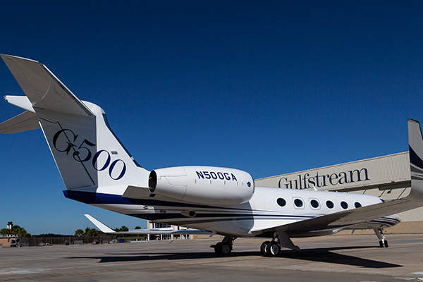 The G500 is manufactured at two of Gulfstream's facilities in Savannah. Image courtesy of Gulfstream Aerospace Corporation.
