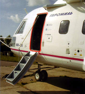 In the Mi-38 VIP / passenger version, a ramp door is fitted.