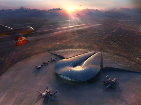 Possible design of the future Spaceport.