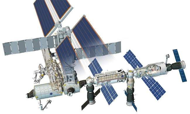 Cutaway diagram of the completed ISS.