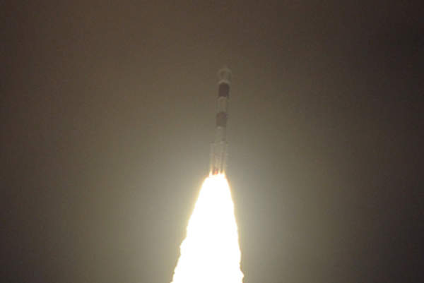 The satellite launch mission was completed in 20 minutes and 25.4 seconds. Image courtesy of ISRO.