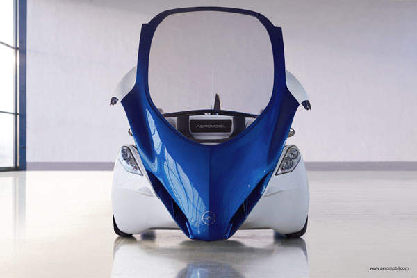 A front view of the AeroMobil 3.0 prototype. Image courtesy of AeroMobil.