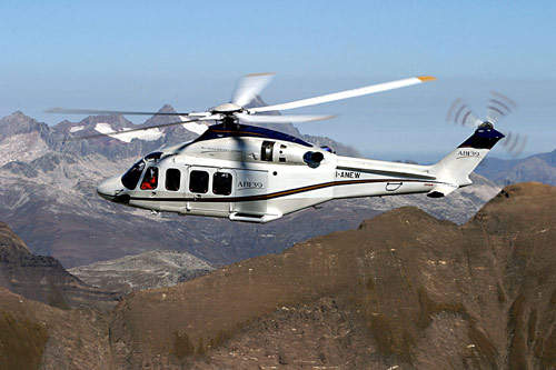 The AW139 has a maximum cruise speed of 290km/h and a maximum range (without reserves) of 750km.