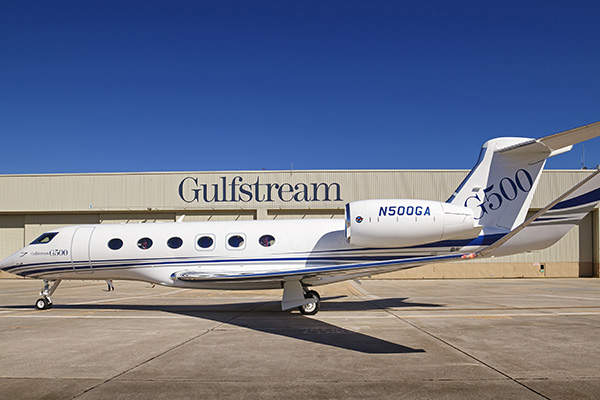 The G500 business jet has a maximum take-off weight of 76,850lb. Image courtesy of Gulfstream Aerospace Corporation.