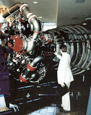 The space shuttle main engine.