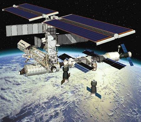 Artist's impression of the completed ISS.