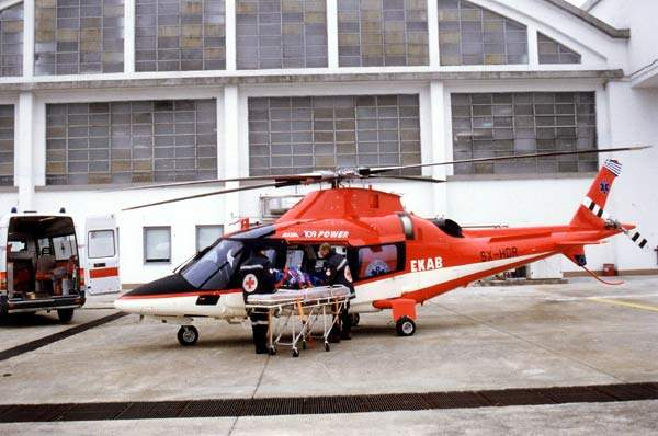 The cabin can be quickly converted for an emergency medical evacuation role.