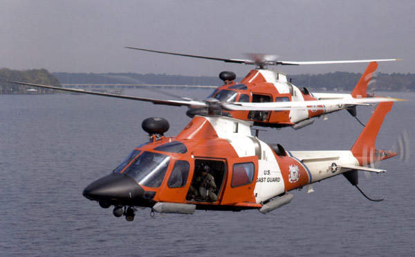 The armed MH-68, a dedicated version of the AW109 Power, in service with the US Coastguard.