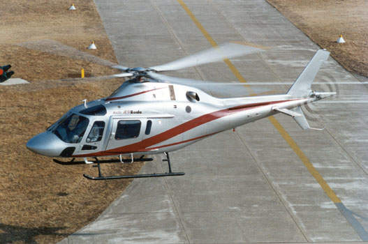 The AW119 Koala single turbine light helicopter.