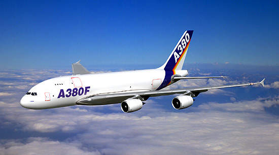 The A380-800F is the freighter version of Airbus' A380 wide-bodied 'superjumbo' passenger aircraft.
