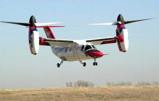 The BA609 civil tiltrotor took its first flight in March 2003.