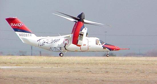 The tiltrotor's first taxi flight.