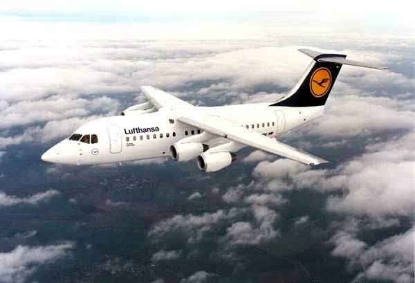 A Lufthansa CityLine Avro RJ.